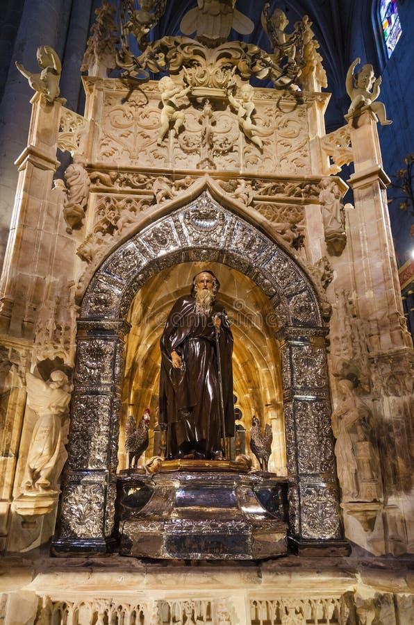 Intérieur de la cathédrale de Santo Domingo de la Calzada, Espagne photo stock