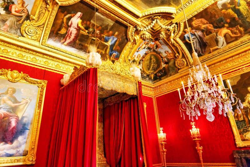 Intérieur de la chambre à coucher de la reine images libres de droits