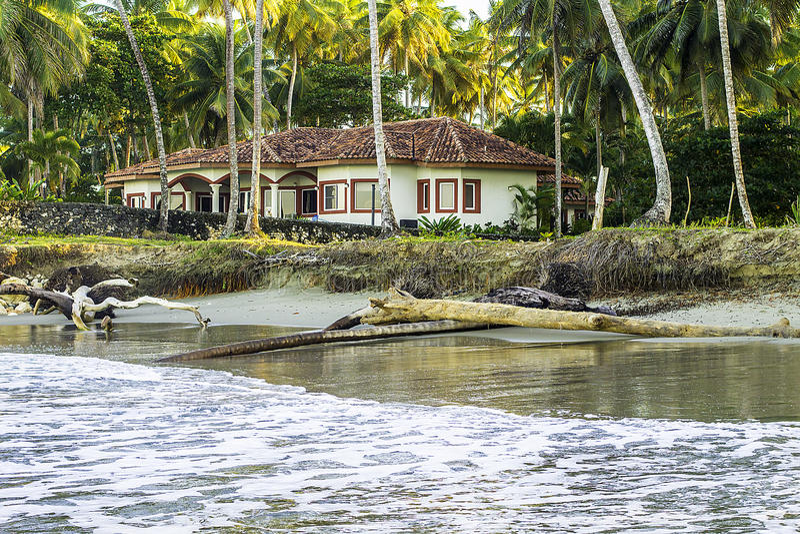 Intérieur de la plage House photographie stock libre de droits