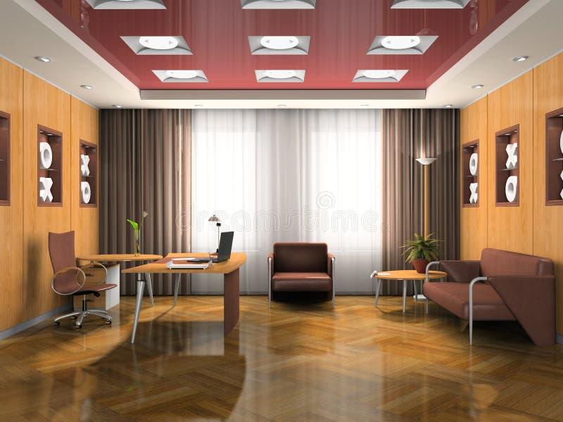 Intérieur de la salle d'attente illustration libre de droits