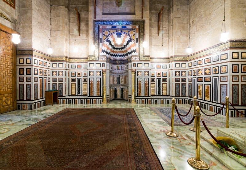 Intérieur de la tombe de Reza Shah de l'Iran, Al Rifaii Mosque image stock