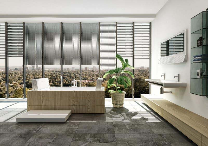 Intérieur de luxe élégant de salle de bains illustration stock