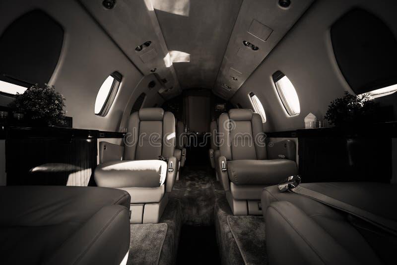 Intérieur de luxe d'avions images libres de droits