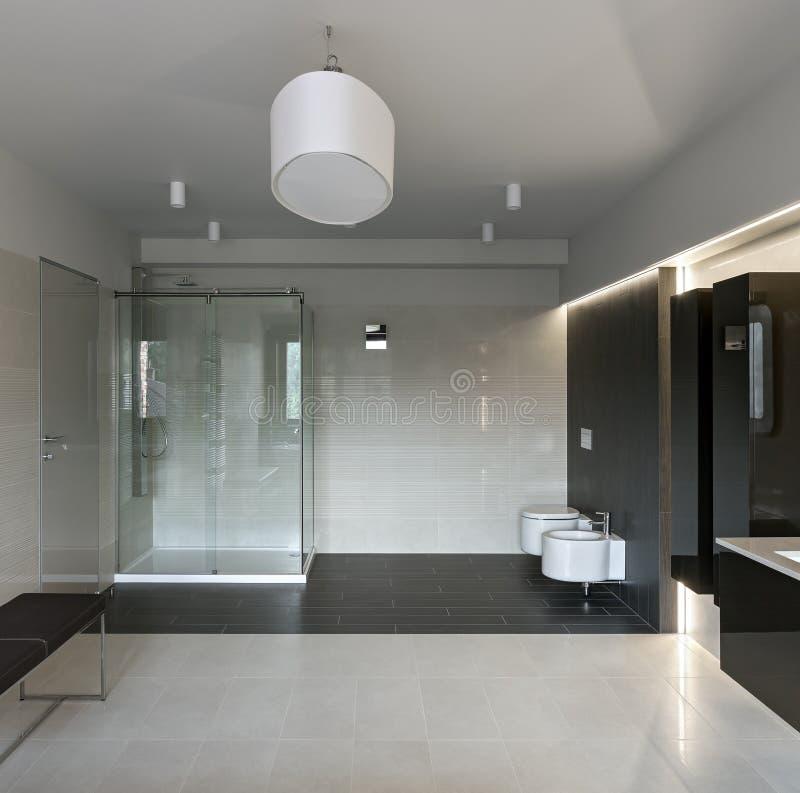 Intérieur de luxe de salle de bains photographie stock libre de droits