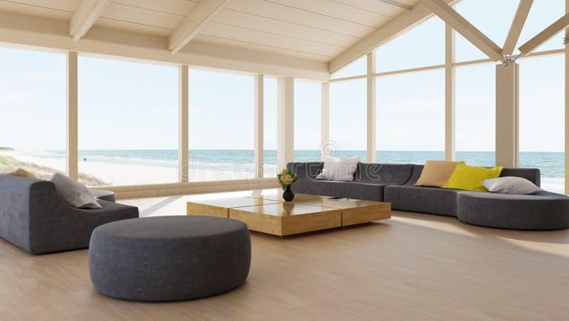 Intérieur de luxe moderne de salle de séjour illustration stock