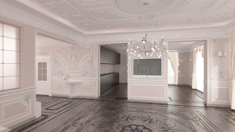 Intérieur de maison classique illustration libre de droits