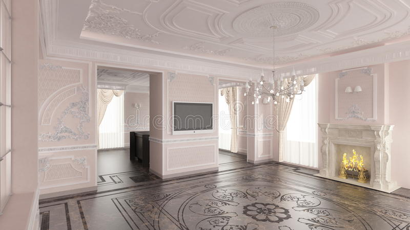 Intérieur de maison classique illustration stock