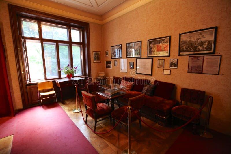 Intérieur de maison de Sigmund Freud à Vienne images libres de droits