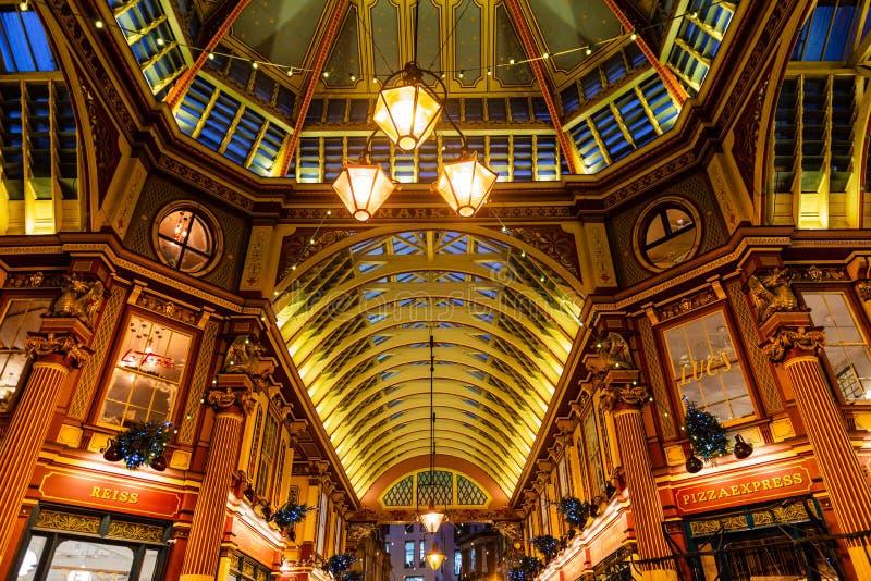 Intérieur de marché de Leadenhall à Londres photographie stock libre de droits