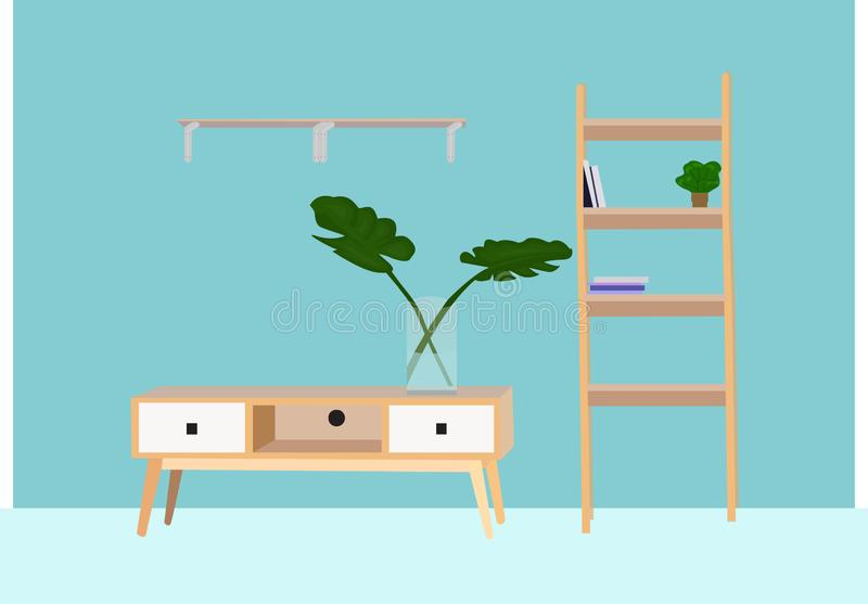 Intérieur de meubles, badroom, illustration de vecteur