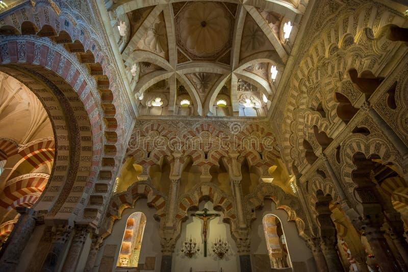 Intérieur de Mezquita-Catedral, Cordoue, Espagne photographie stock