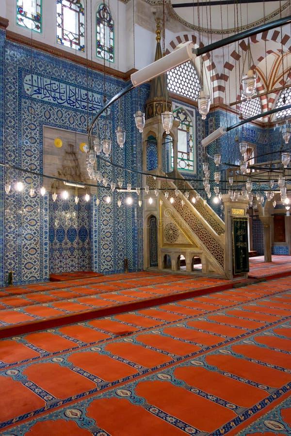 Intérieur de mosquée image stock