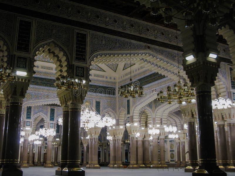 Intérieur de mosquée de Saleh, Sanaa, Yémen photo stock