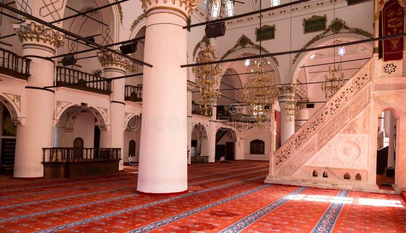Intérieur de mosquée Yakup Bey Mosque, mosquée Kemeralti, Izmir, Turquie de Hisar de Molla Yakup photos stock