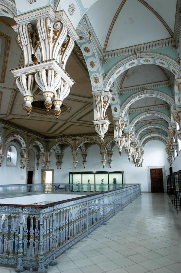 Intérieur de musée de Bardo à Tunis image libre de droits