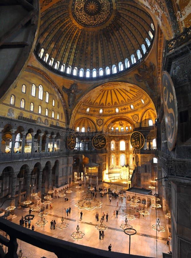 Intérieur de musée de Hagia Sofia à Istanbul image libre de droits