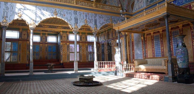 Intérieur de palais célèbre de Topkapi à Istanbul, Turquie photos stock