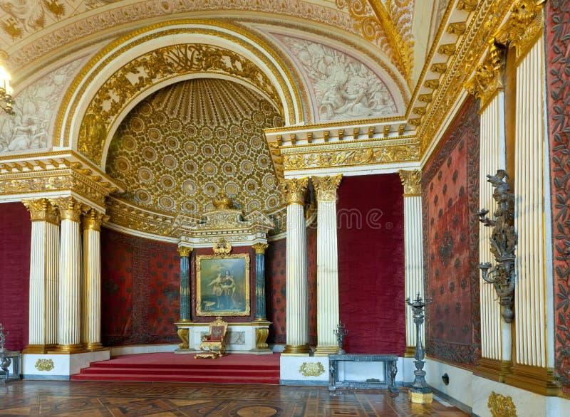 Intérieur de palais d'hiver images libres de droits