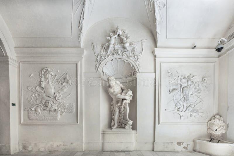 Intérieur de palais d'hiver de prince Eugene Savoy à Vienne photos libres de droits