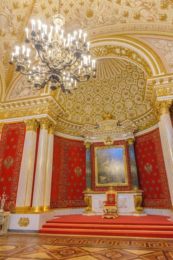 Intérieur de palais d'hiver sur la place de palais dans le St Petersbourg, image stock
