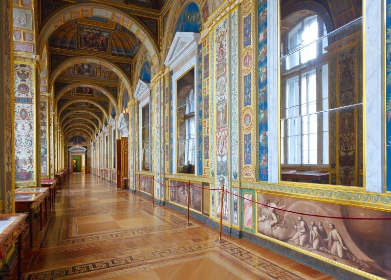 Intérieur de palais de l'hiver photographie stock