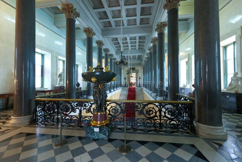 Intérieur de palais de l'hiver photo stock