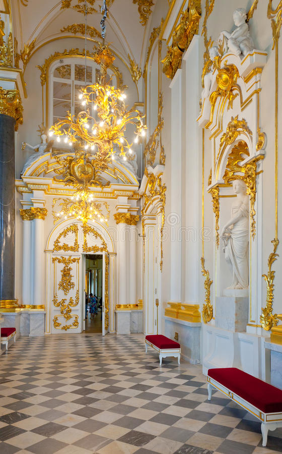 Intérieur de palais de l'hiver (ermitage d'état) photo stock