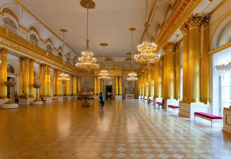 Intérieur de palais de l'hiver (ermitage d'état) photos libres de droits