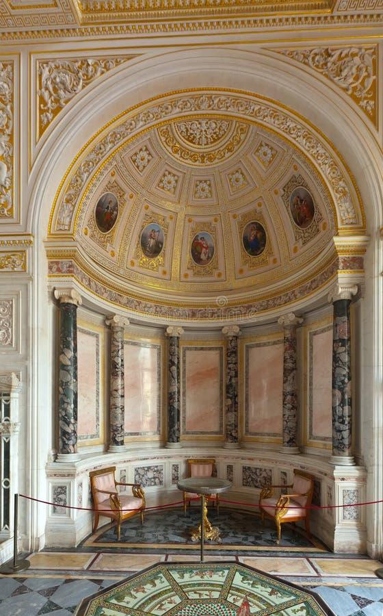 Intérieur de palais de l'hiver. St Petersbourg images stock