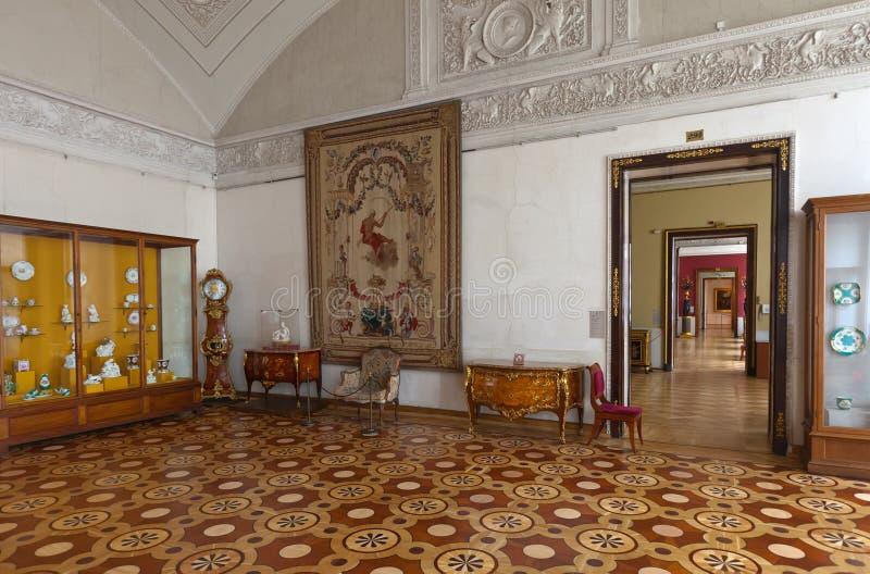 Intérieur de palais de l'hiver. St Petersburg photos stock