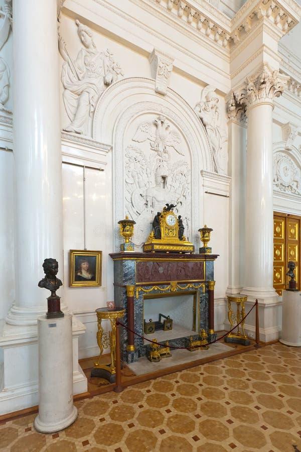 Intérieur de palais de l'hiver. St Petersburg photographie stock