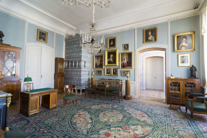 Intérieur de palais de Rundale Dans le salon néerlandais photos libres de droits