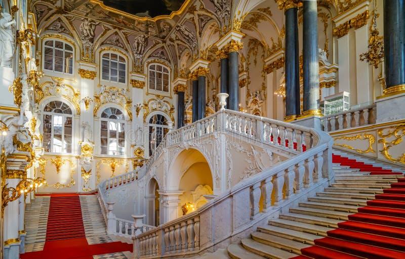 Intérieur de palais de l'hiver photos stock