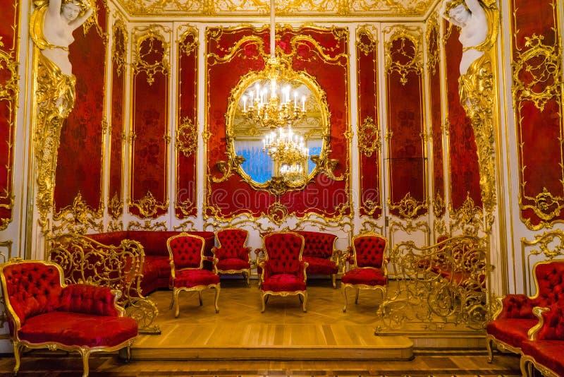 Intérieur de palais de l'hiver photo libre de droits