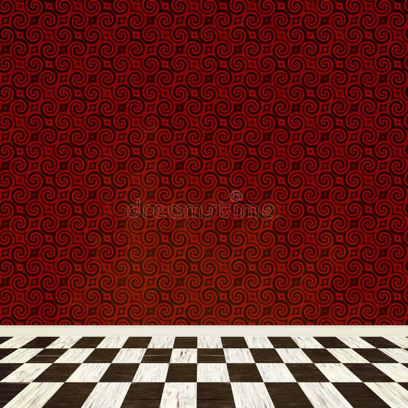Intérieur de pièce d'imagination illustration de vecteur