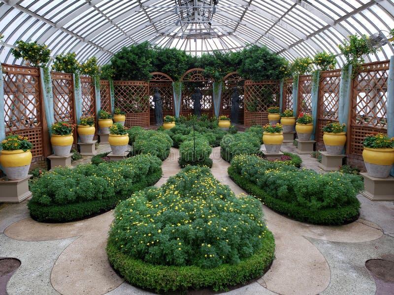 Intérieur de pièce jardins conservateurs et botaniques de Phipps de broderie images stock