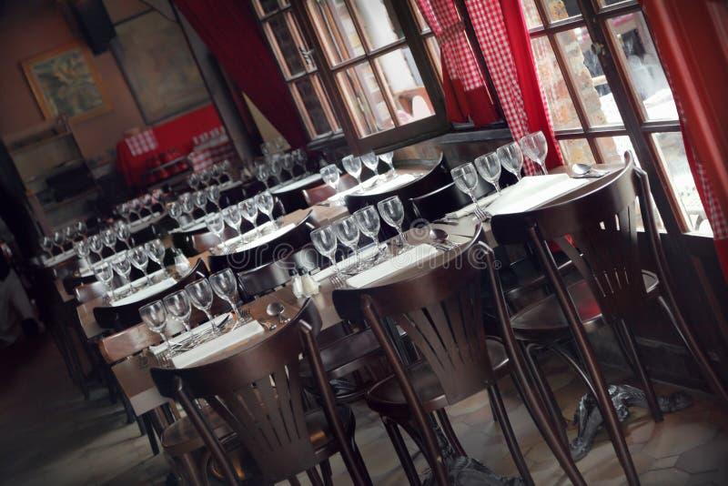 Intérieur de restaurant image stock