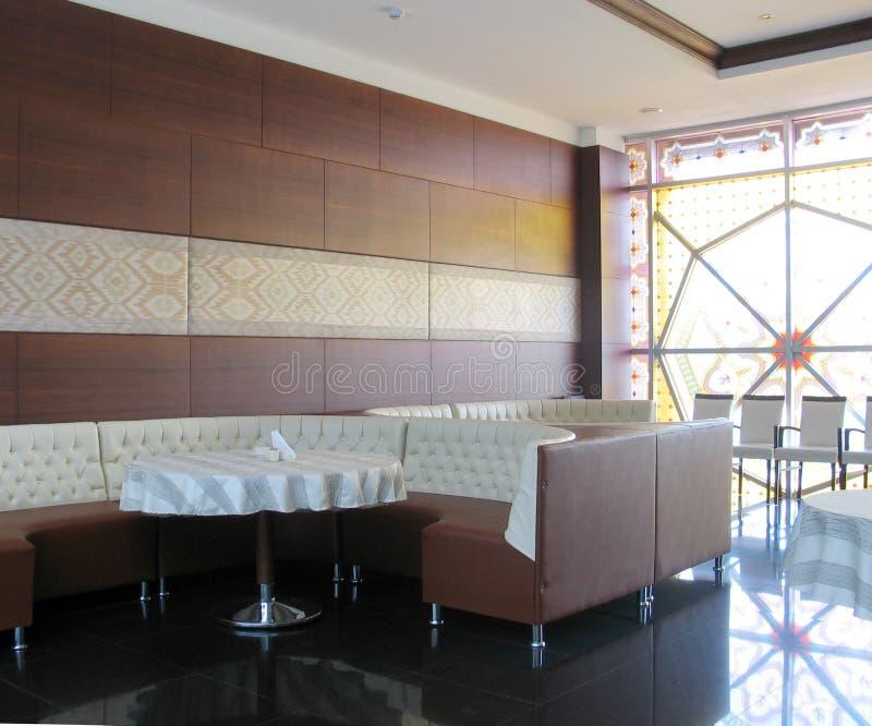 Intérieur de restaurant images libres de droits