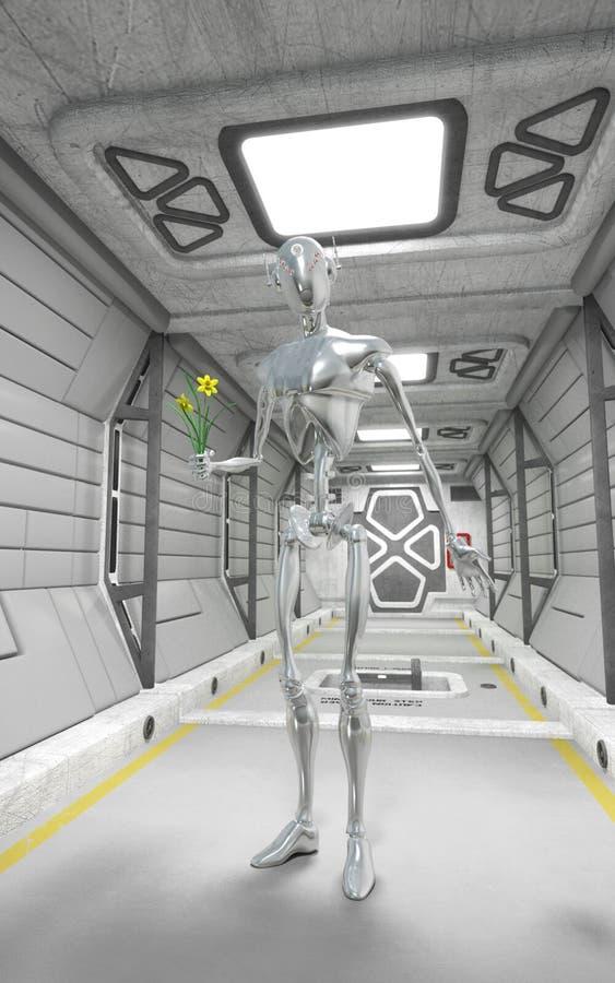Intérieur de robot et de vaisseau spatial illustration libre de droits