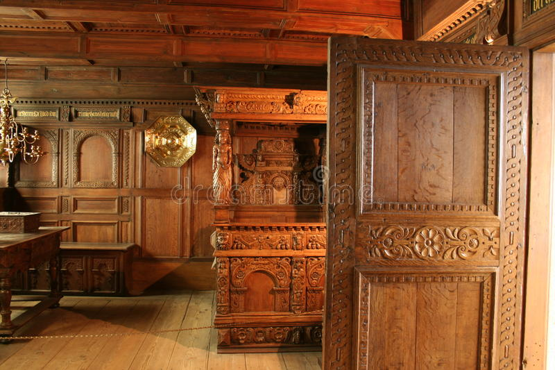 Intérieur de Rosenborg Palas photos stock