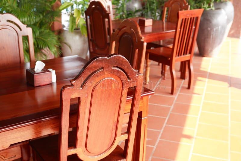 Intérieur de salle à manger image stock