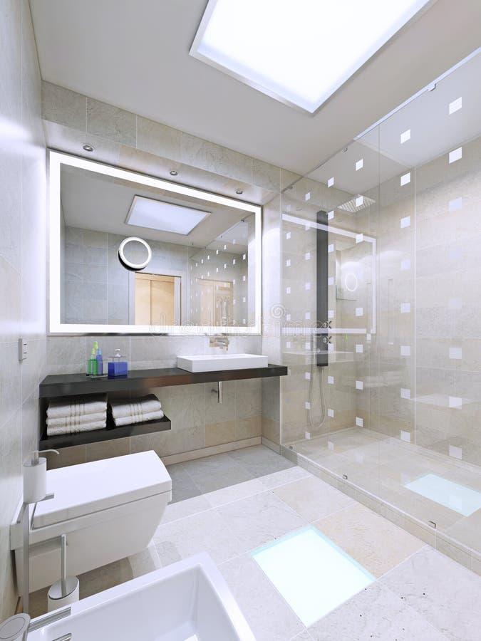 Intérieur de salle de bains dans la maison moderne et élégante images stock