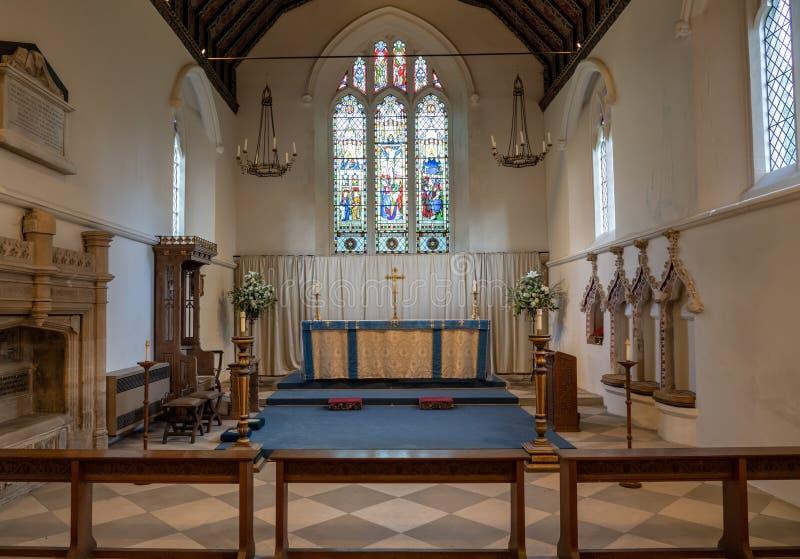 Intérieur de St Mary l'église de Vierge dans le village de Hambleden image libre de droits