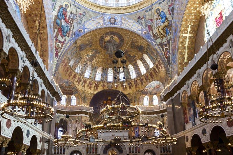 Intérieur de St Nicholas Cathedral photographie stock