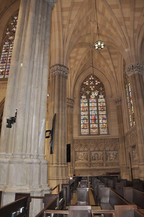 Intérieur de St Patrick Cathedral de Midtown Manhattan à New York City aux Etats-Unis photo stock