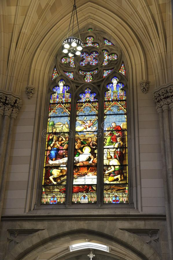 Intérieur de St Patrick Cathedral de Midtown Manhattan à New York City aux Etats-Unis image libre de droits