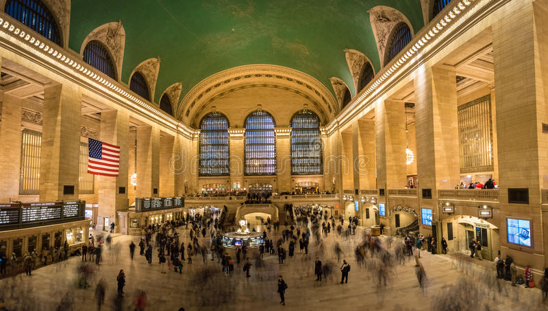 Intérieur de station de Grand Central - New York, Etats-Unis images libres de droits