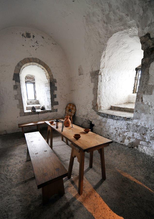 Intérieur de subsistance de château de Douvres images stock