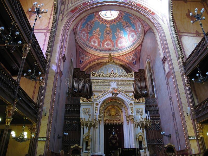 Intérieur de synagogue photographie stock libre de droits