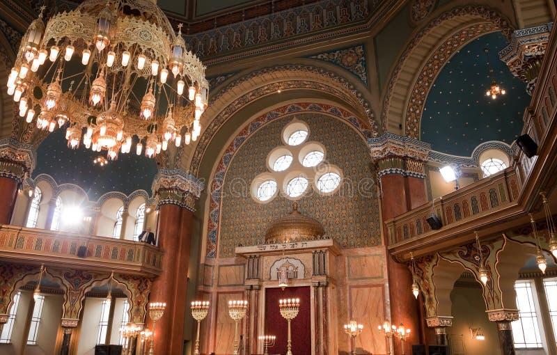 Intérieur de synagogue de Sofia images stock